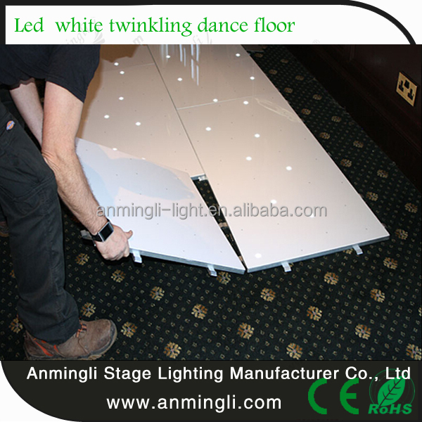 CE,SAA,RoHS,UL,FCC Certification and LED Light Source acrylic dance floor
