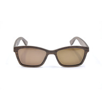 Natural wooden Smoke Grey true color mens sun glasses custom polarized sunglasses man