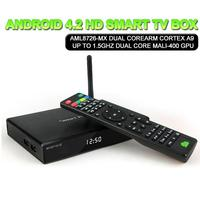 Amlogic 8726 MX Dual core 1.5GHz 1GB RAM 8GB M6 xbmc android smart tv box metal case strong wifi midnight xbmc