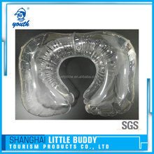 TPU insert clear plastic inflatable transparent pillow case u shape