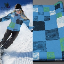 100D Polyester Spandex Printing Fabric Waterproof/Breathable Ski Suit Fabric Spandex Comound Fleece Sofeshell Fabric