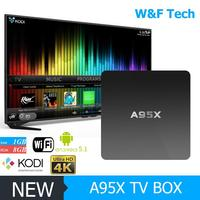 Top Selling android 5.1 s905 tv set top box a95x netbox with great price