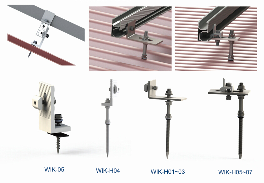 Solar PV Mount Stainless Steel Metal Roof Hanger Bolts