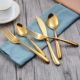 Japanese Style Indian Copper Tableware Flatware Set for Wedding Restaurant and Hotel