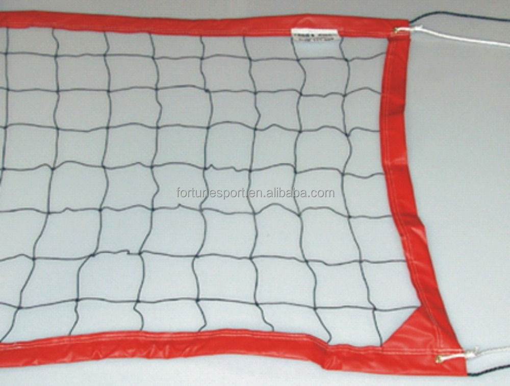 black PE knotted and knotless beach volleyball net