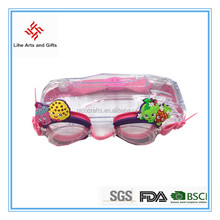 promotional gift children interesting cartoon kids swimming goggles for wholesale