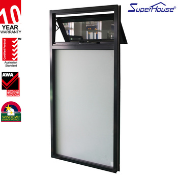 aluminium frame top hung window for residental building