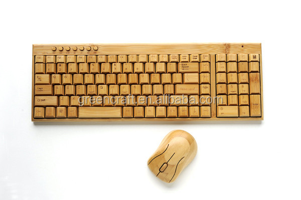 Hot Selling Bamboo Wireless USB Keyboard
