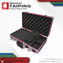 New Black Aluminum Gun Tool Case Pistol HandGun Lock Box