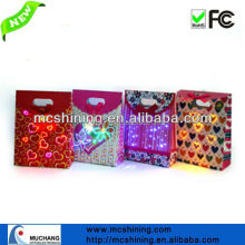 hot sale handicraft led paper bag manufacturer