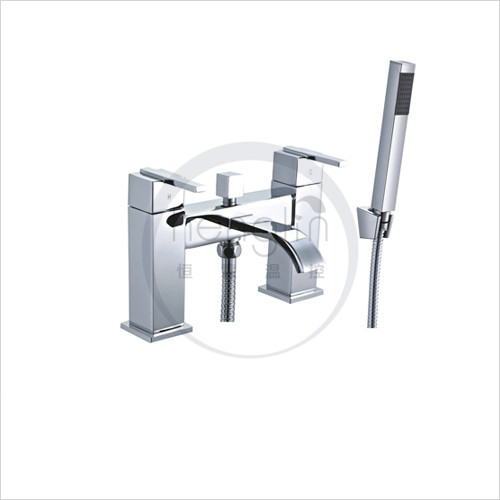 dual lever square bath shower mixer tap