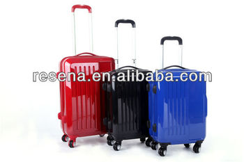 Strong Vertical Stripes ABS+PC Travel Luggage Bags