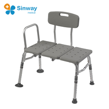 Height Adjustable Plastic Tub Transfer Bench Shower Chair