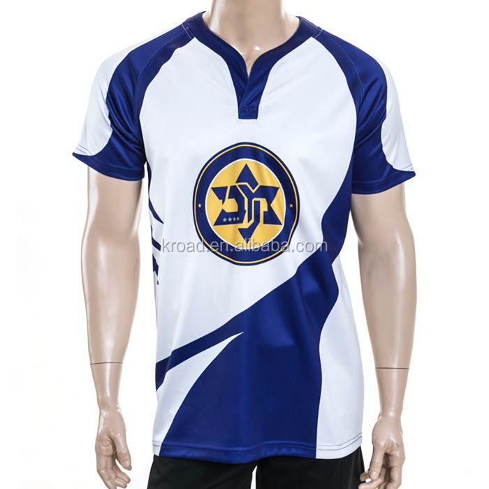 Sublimated cheap rugby uniforms, custom made quick dry rugby jersey and shorts