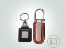 Custom business promotional gift leather metal keychain ,gifts wholesale metal leather keyring