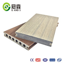 2017 co extrusion wpc outdoor waterproof extruded WPC wood plastic composite decking floor