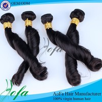 AOFA Brand Top Quality Virgin Remy Spring Curly Human Hair