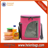 600D polyester insulated cooler bag with water bottle pocket