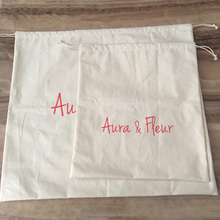 Large Off White Calico Dust Bag For Totes Clutches