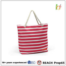 Wholesale custom tote bag with canvas material for lady