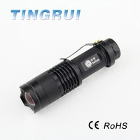 High Power fast track light Zoom Tactical Led mini Flashlight