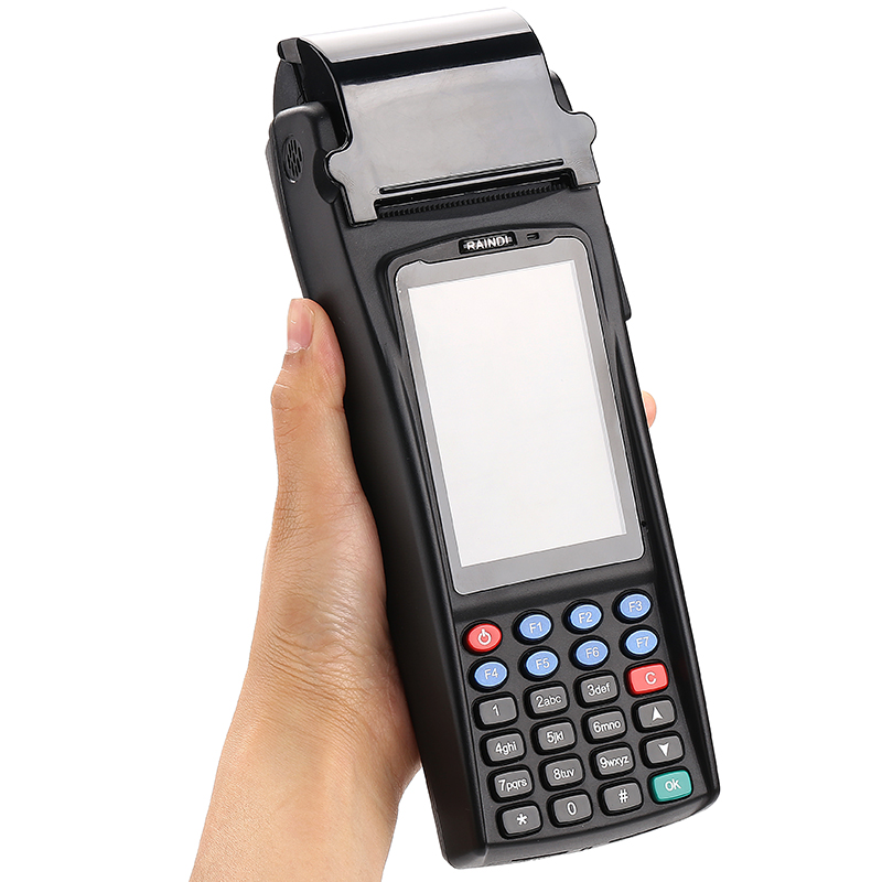 all in one pos P1500S android handheld system terminal with 58mm printer rfid
