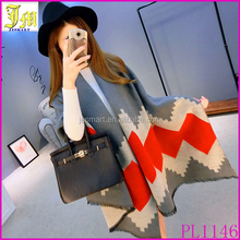 Fashion Long Women Scarf Winter Wool Cashmere Scarf Tippet Geometric Super Warm Blanket Scarf Shawl