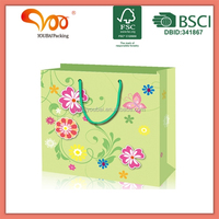 Promotional Latest Arrival Good Quality Eco-friendly foldable reusable canvas printing flower shopping bags