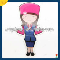 Custom design cute girl paper fridge magnet
