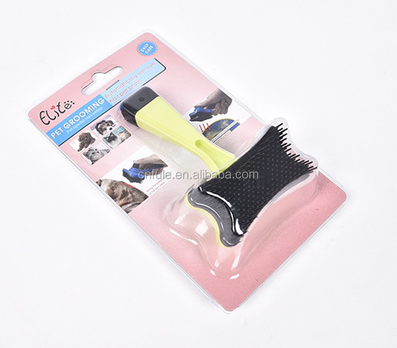 OEM factory cheap price silicone pet hair remover pet grooming tool dog brush self cleaning
