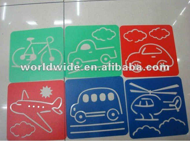 Kids Stencil with Traffic designs,Drawing Stencil,Early Education Tool,standard