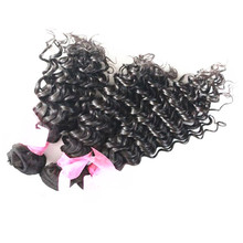 9A Grade Virgin Remy Human Hair Extension With Deep Curly Brazilian Hair Texture And Unprocessed Natural Color Hair