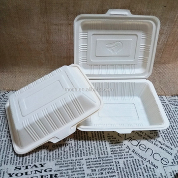 Takeaway Disposable CornstarchTableware Biodegradable Food Container