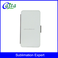 Newest Blank Sublimation Phone holster Folding leather case Phone cover Sublimation phone cover for Samsung Galaxy S6