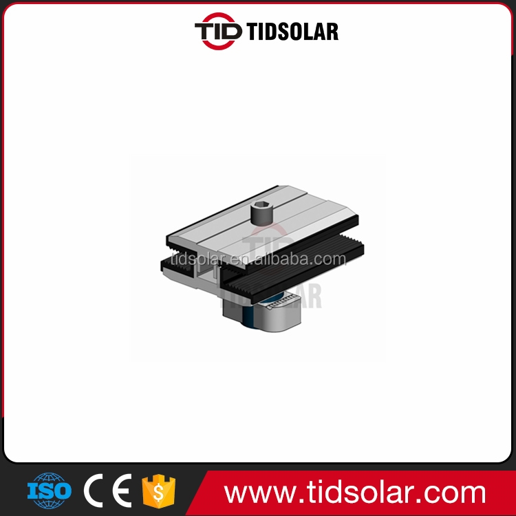 Mid clamp for solar thin film module/Thin Film Panel Clamp/Solar Panel Frameless clamp