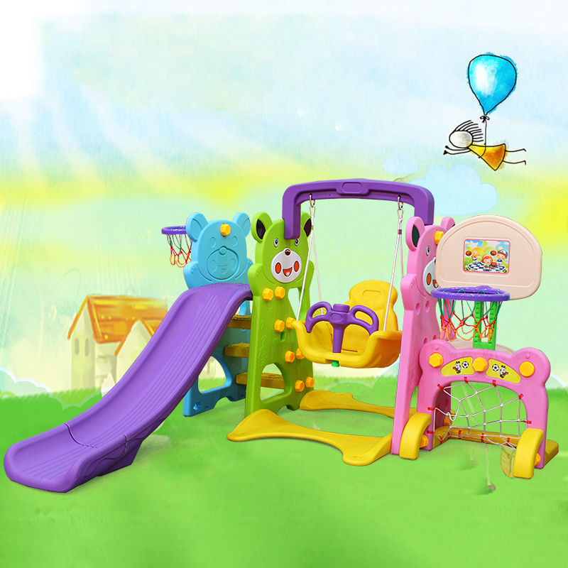 Baby plastic indoor <strong>slide</strong> and swing toy set for kid