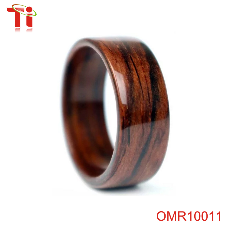 Aohua new design koa wood ring, ring wood, secret wood ring special ring as gift