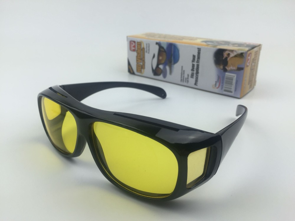HD Night Vision Unisex Driving Sunglasses Nice Over Wrap Around Glasses .jpg
