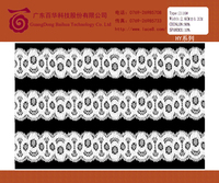 Regular white tricot bridal lace trim, lace trimming lace fabric for wedding dress