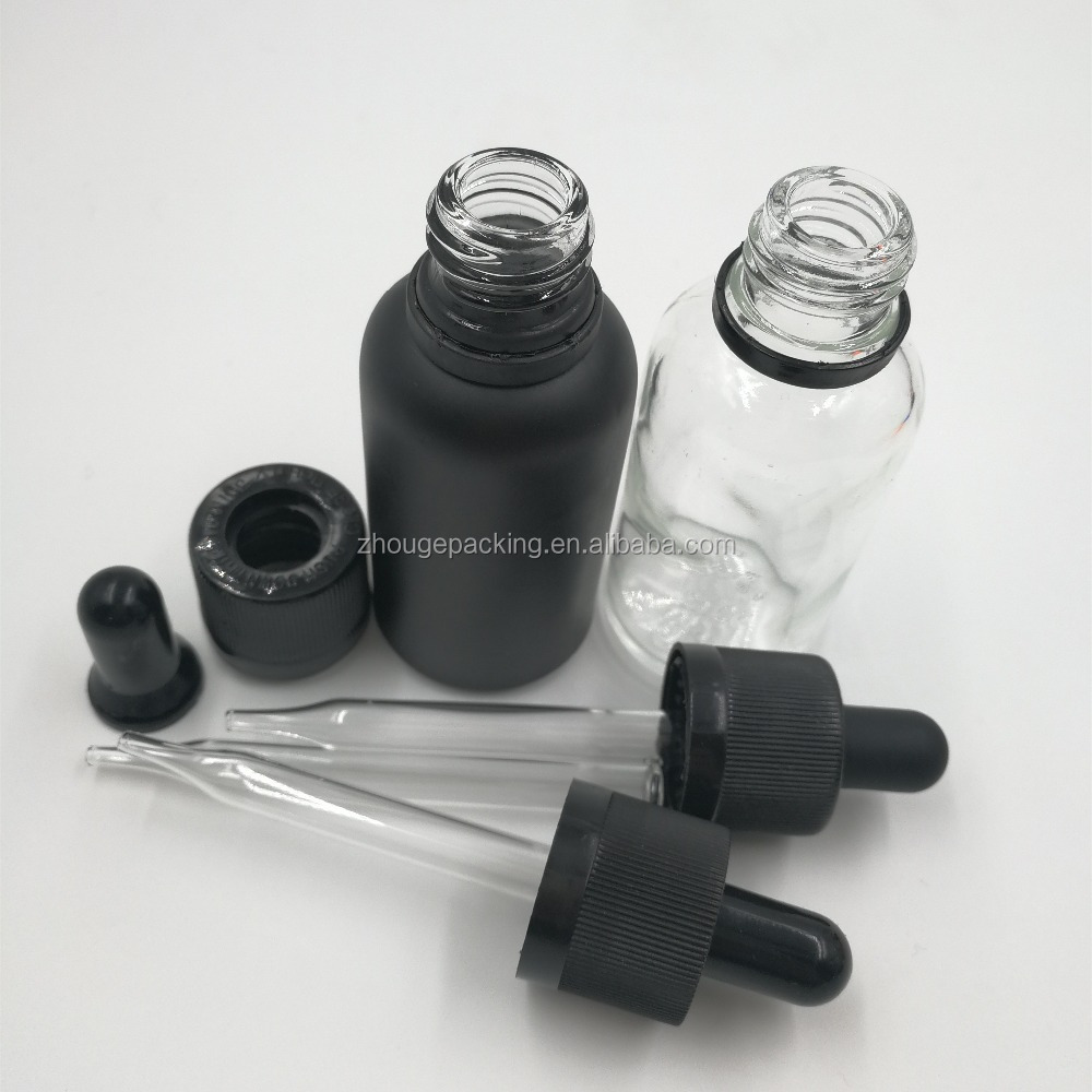 5ml 10ml 15ml 20ml 30ml 50ml Black essence dropper 100ml empty glass bottle
