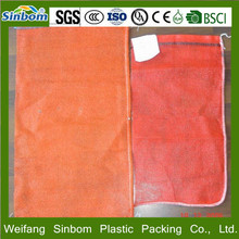 Plastic PE raschel mesh net potato bags 50kg, HDPE mesh bag for vegetable and fruit