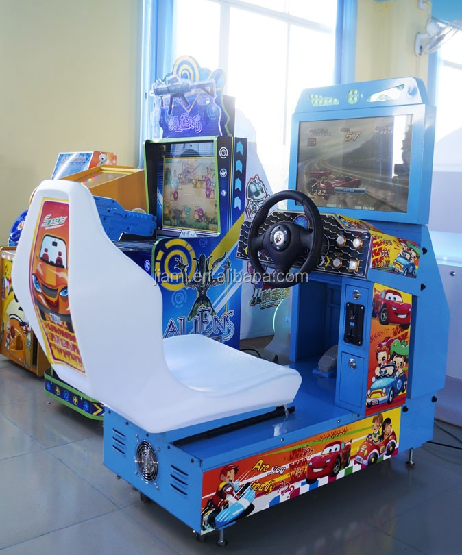 kids simulator racing car travel round the world electric racing game machine