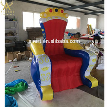giant advertising inflatable throne chair sofa