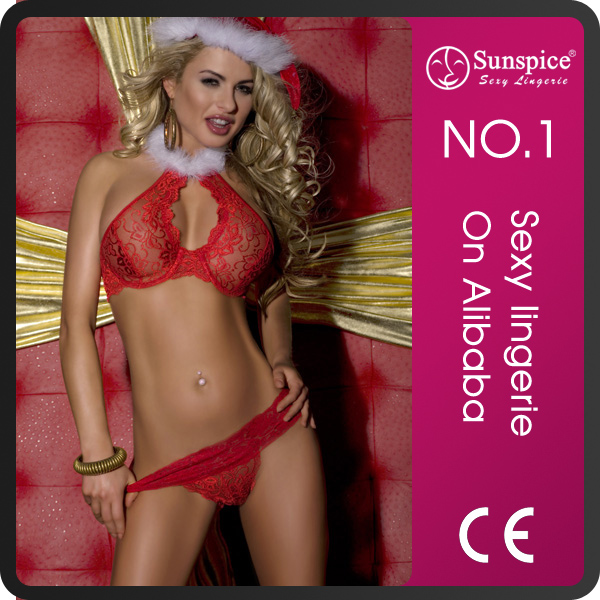 Sunspice new fashion christmas lingerie for mature girls