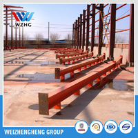 structural steel h beam , welded H column painted or galvanized
