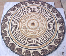Stone mosaic table patterns