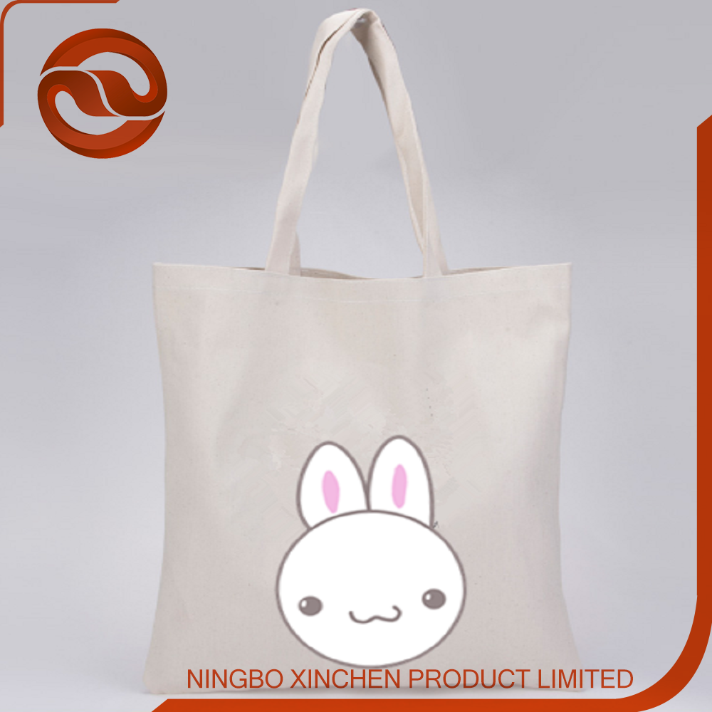 Top quality customized print canvas tote bag large Bag made in china