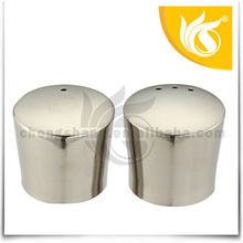 Most Popular Item 2PCS Stainless Steel Salt and Pepper Shaker Plastic Lid
