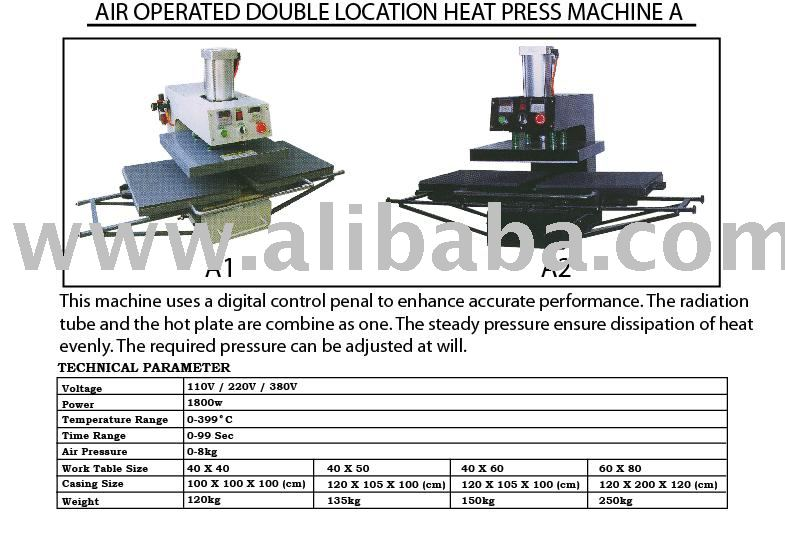 Air Operated Double Location Heat Press Machine A