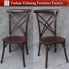 Fancy design wood color cross back chair for dinner YC-A334-02